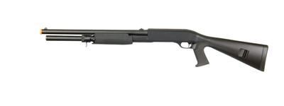 Double Eagle M56AL Tri Shot Pump Action Shotgun in Black