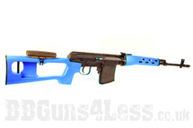 A&K Electric Airsoft Sniper Rifle in blue