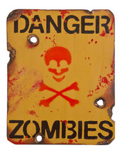 Danger Zombies Wooden Military Style Sign