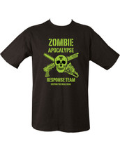 Zombie Apocalypse Response Team T Shirt in black
