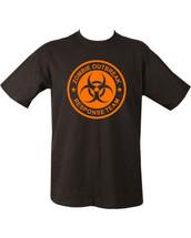 Zombie Outbreak T Shirt in black