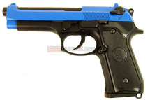 KJ Works M92 Pistol GBB in Blue