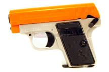 Colt 25 spring pistol silver with orange slider