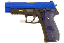 WE F Series 226 Rail GBB Pistol in blue