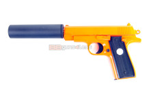 Galaxy G2A full metal pistol with silencer in orange