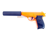 Galaxy G3A Full Metal Pistol with silencer in orange
