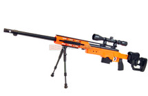 Well MB4411 Bolt action Sniper Rifle with scope & bipod in orange