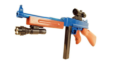 Vigor 8904A Spring Rifle with Scope and Torch in blue