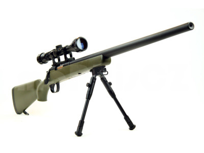 Well MB03 Sniper rifle with scope & bipod in army green