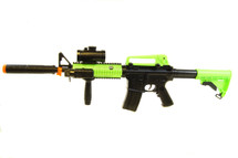 Zombie Army M4A1 electric bb gun in radioactive green