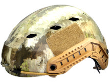 Fast Helmet with Rails inc Extra Internal Padding in camo
