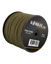 kombat 100m Roll of 3mm Para Cord in Olive Green