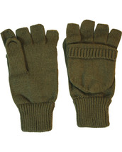 Fingerless Gloves Shooters Mitts - olive green