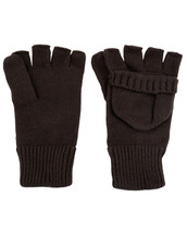 Fingerless Gloves Shooters Mitts - black