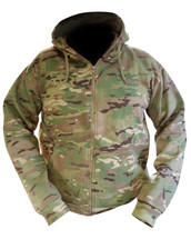Kombat Army Hoodie in utp Zipped and Fleece Multicam Jacket