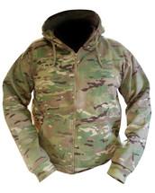 Kombat Army Hoodie in utp Zipped and Fleece Multicam Jacket
