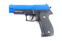 Galaxy G26 P226 Full Scale Metal pistol With Rail Blue