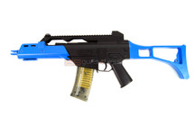 Double Eagle M41GL bb gun with folding stock in blue