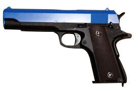 cyma cm123 blue electric airsoft pistol