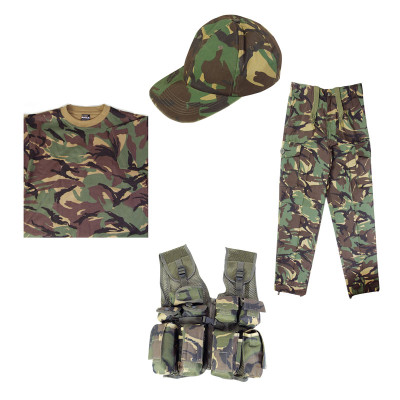 e26b9c33d Full Kids Army Kit inc Tactical Vest T-Shirt Trousers & Cap in DPM Camo -  bbguns4less
