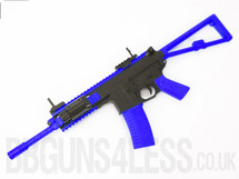 Bison C301 Replica PDW Airsoft Rifle BB gun in blue