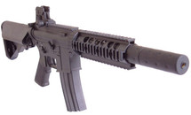 D|Boys M4 Full Metal AEG Rifle with Crane Style Stock in Black