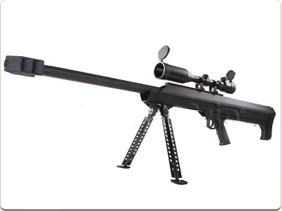 Snow Wolf M99 Sniper Rifle with Scope & Bipod in Black