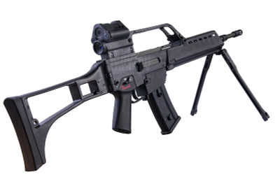 ARES AS36 Airsoft Rifle with Bipod in Black