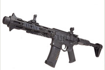 ares honey badger airsoft aeg black rifle