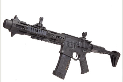 ares honey badger airsoft aeg black rifle