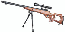 Well MB10 Warrior Sniper Rifle with Scope & Bipod in Wood Finish