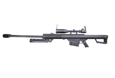 Snow Wolf Barrett M82 Sniper Rifle with Scope and Bipod in black