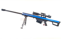 Snow Wolf M82 Electric Sniper Rifle with Scope and bipod in Blue