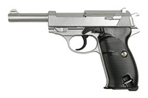 Galaxy G21 Full Metal Walther P38 pistol in Silver