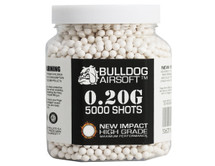 bulldog impact bb pellets 5000 x 0.20g tub in white
