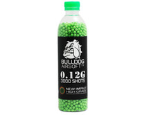 bulldog impact bb pellets 3000 x 0.12g in a bottle in green