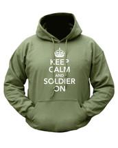 Kombat Keep Calm Hoodie In Green
