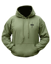 Kombat Royal Marines Commando Double Print Hoodie In Green