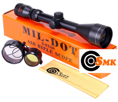 4e227bbe080 ... SMK 3-9 x 50 Mil-Dot Rifle scope Sight Hunting and Shooting Optics.  Image 1
