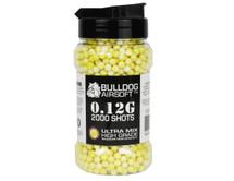 Bulldog Ultra Mix pellets 2000 x 0.12g Yellow-White