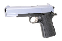 WELL P361M M1911-A1 Metal Spring Pistol with silver slide