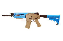 Cyma CM016 Airsoft Gun Metal in Tan/blue