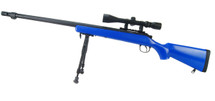 Well MB07 Sniper Rifle with scope & bipod in Blue (new)