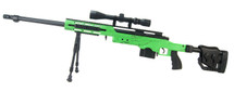 Well MB4411 Bolt action Sniper Rifle with scope & bipod in Green