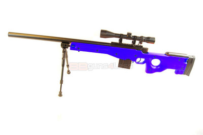 Well MB4401 Spring Sniper Rifle with scope & bipod in Blue