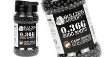 Bulldog bb pellets 2000 x 0.36g Bottle in black