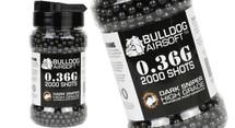 Bulldog bb pellets 2000 x 0.36g Bottle in black