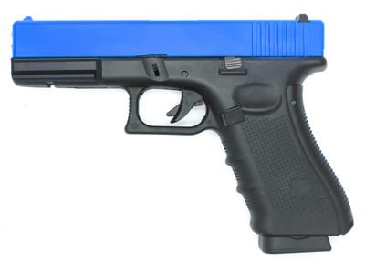 Well G197 G17 GAS/Co2 GBB Full Metal Pistol in blue