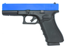 Well G197 G17 GAS/Co2 GBB Full Metal Pistol in blue
