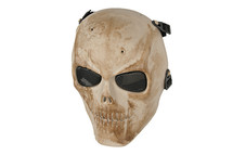 Airsoft Skull with scar full face mask in Sand